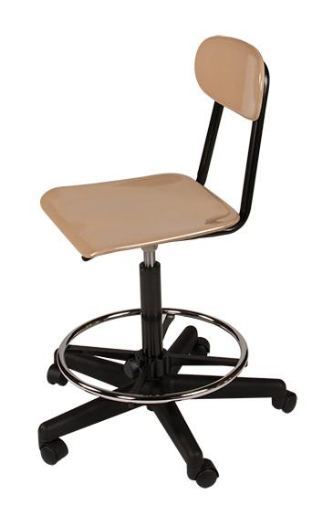 scholar craft cdf1810c adjustable height lab stool with casters. Black Bedroom Furniture Sets. Home Design Ideas