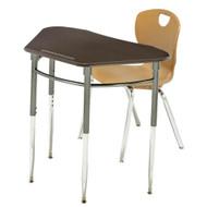 Scholar Craft 4610SP Kaleidoscope Series Adjustable Height Desk Trapezoid Shape With Plastic Book Box
