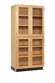 Diversified 357-3622 Tall Storage with Four Glass Doors 36 inch