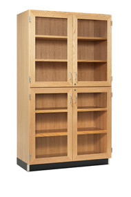 Diversified 357-4822 Tall Storage with Four Glass Doors 48 inch