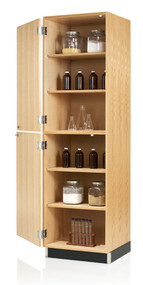 Diversified 318-2422 Tall Storage with Two Oak Veneer Doors 24 inch