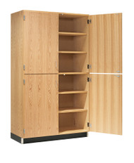 Diversified 356-4822 Tall Storage with Four Oak Veneer Doors 48 inch
