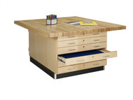 Shain WW33-4V Duo Storage Workbench with 4 Vises