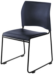 National Public Seating 8700 Series Blue Vinyl Cafetorium Chair with Black Frame