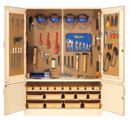 Diversifed TC-10WT Woodworking Tool Storage Cabinet with Tools