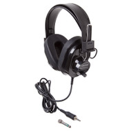 Califone 2924AVPS-BK Deluxe Stereo Headphone Black