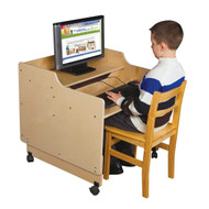 Wood Designs C41015 Contender Mobile Computer Desk 30 Inches