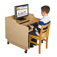 Wood Designs C41015F Contender Mobile Computer Desk 30 Inches