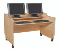 Wood Designs C41048 Contender Mobile Computer Desk 48 Inches