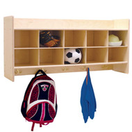 Wood Designs C51409F Contender Wall Locker and Storage without Trays