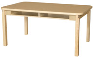 Wood Designs WDHPL1848DSK18 Two Seater High Pressure Laminate Desk with Hardwood Legs 18 Inches