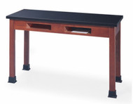 Community SC2454A-30 Stockton Science Table Black Laminate 54W x 24D with Compartments