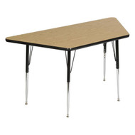 Scholar Craft FS849TR2448 Trapezoid Thermofuse Melamine Activity Table 24 x 48
