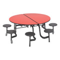 "MSR608-Round Mobile Stool Cafeteria Table (60"" Diameter)"