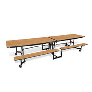 Mitchell Furniture Systems NPX12 Open Bench PorTable With Black Frame 12 Feet Long