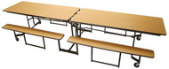 Mitchell Furniture Systems NP10 Full Benches with Black Powder Coated Frame 10 Feet Long