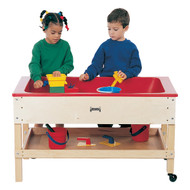 Jonti-Craft 2856JC Sensory Sand and Water Table with One Tub and Shelf