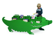 Gressco BSCS800 Crocodile Book Display with Raised Center Book Storage Spine