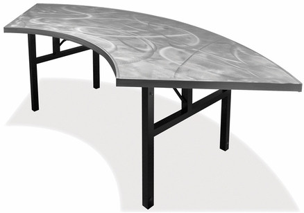 Southern Aluminum SAC3060PHL Swirl Serpentine Table With H Style Legs 60  Inch