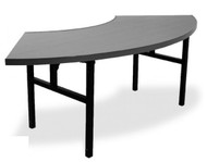 Southern Aluminum DC3060FVHL IDesign Serpentine Table with H-Style Legs 60 Inch