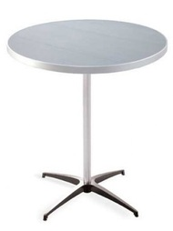 Southern Aluminum A30RP30KD Standard Top Knockdown Base Table 30x30