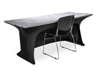 Southern Aluminum SPAN308-3S 3 Sided Modesty Spandex Table Skirt 30x96