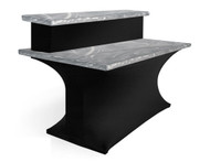 Southern Aluminum SPAN108 Tier Spandex Table Skirt 10x96