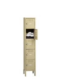 Tennsco BK5-151812-1 Steel 5 Tier Box Lockers with Legs 15x18x66