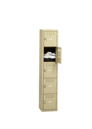 Tennsco BK5-151512-A Steel 5 Tier Box Lockers without Legs 15x15x60