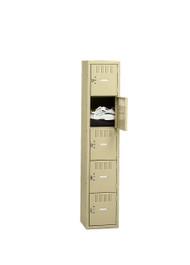Tennsco BK5-151812-A Steel 5 Tier Box Lockers without Legs 15x18x60