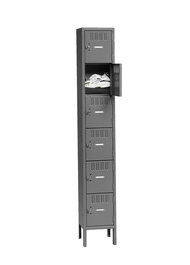 Tennsco BK6-121212-1 Steel 6 Tier Box Lockers with Legs 12x12x78