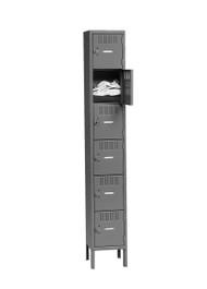 Tennsco BK6-121512-1 Steel 6 Tier Box Lockers with Legs 12x15x78