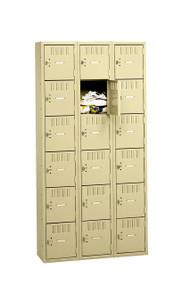 Tennsco BK6-121512-C Steel 6 Tier Box Lockers 3 Wide without Legs 36x15x72