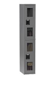 Tennsco CDL-121236-A Steel Double Tier C Thru Locker without Legs 12x12x72