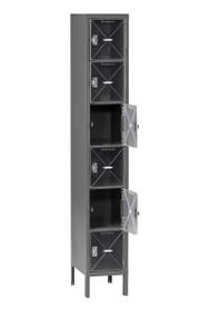 Tennsco CBL6-121512-1 Steel C Thru Box Locker with Legs 12x15x78