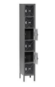 Tennsco CBL6-121812-1 Steel C Thru Box Locker with Legs 12x18x78