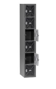 Tennsco CBL6-121212-A Steel C Thru Box Locker without Legs 12x12x72