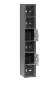 Tennsco CBL6-121812-A Steel C Thru Box Locker without Legs 12x18x72