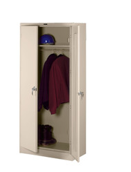 Tennsco 2471 Deluxe Wardrobe Cabinet with 2 Openings 36x24x78
