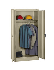 Tennsco 1471 Standard Wardrobe Cabinet with 2 Openings 36x18x72