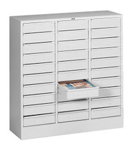 Tennsco 2085 Letter Size 30 Drawer Organizer 31x11.5x33