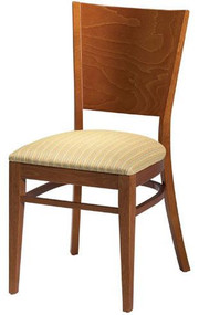 Grand Rapids Chair W504 Wood 18 Inch Melissa Side Chair with Solid Back