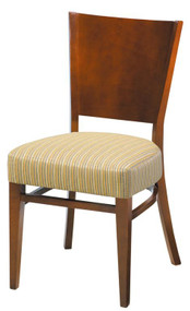 Grand Rapids Chair W504-V21 Wood 18 Inch Melissa Half Pullman Seat Chair with Solid Back