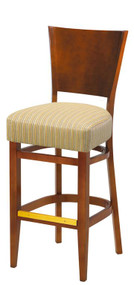 Grand Rapids Chair W504BS-V21 Wood 29.75 Inch Half Pullman Seat Melissa Barstool Chair Solid Back