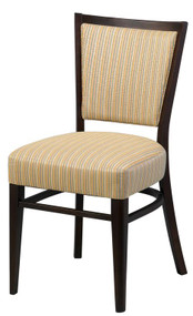 Grand Rapids Chair W504-V22 Wood 18 Inch Melissa Chair with Inside Upholstered Back and Half Pullman Seat