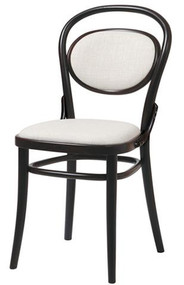 Grand Rapids Chair B020-UPH-BK Bentwood Classic Wood Chair with Upholstered Seat and Back