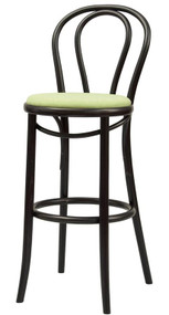 Grand Rapids Chair B018BS-UPH Bentwood Classic Wood Barstool with Upholstered Seat
