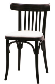 Grand Rapids Chair B763-UPH Bentwood Classic Wood Chair with Upholstered Seat