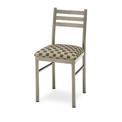 Grand Rapids Chair 105 Steel Ladder Back Chair with Upholstered Seat