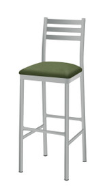 Grand Rapids Chair 105BS Steel Ladder Back Barstool with Upholstered Seat